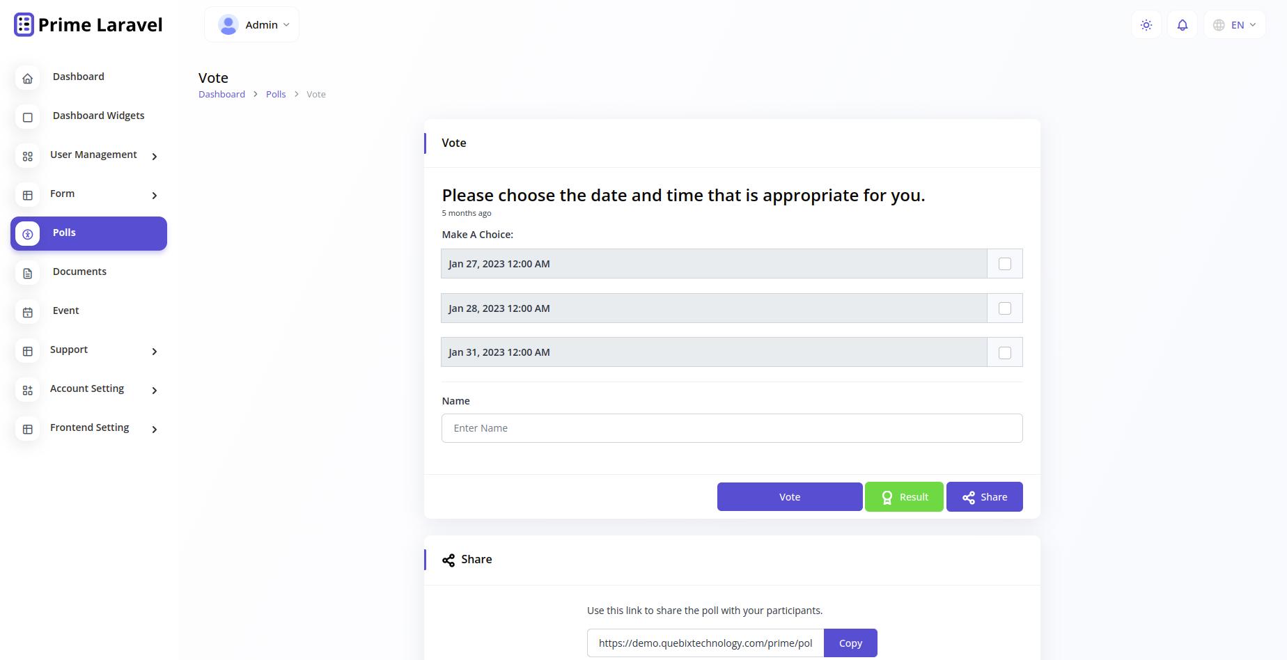 Prime Laravel Form Builder - Form builder, Users, Role, Permissions & Settings - 11