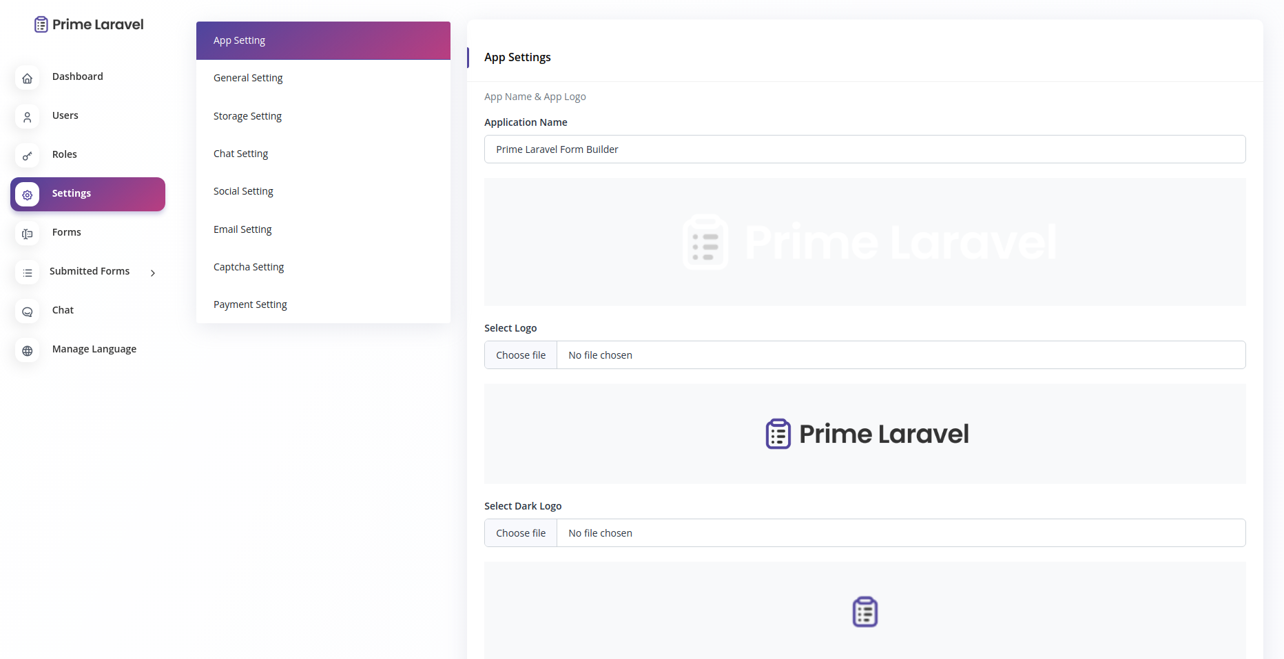 Prime Laravel Form Builder - Form builder, Users, Role, Permissions & Settings - 3