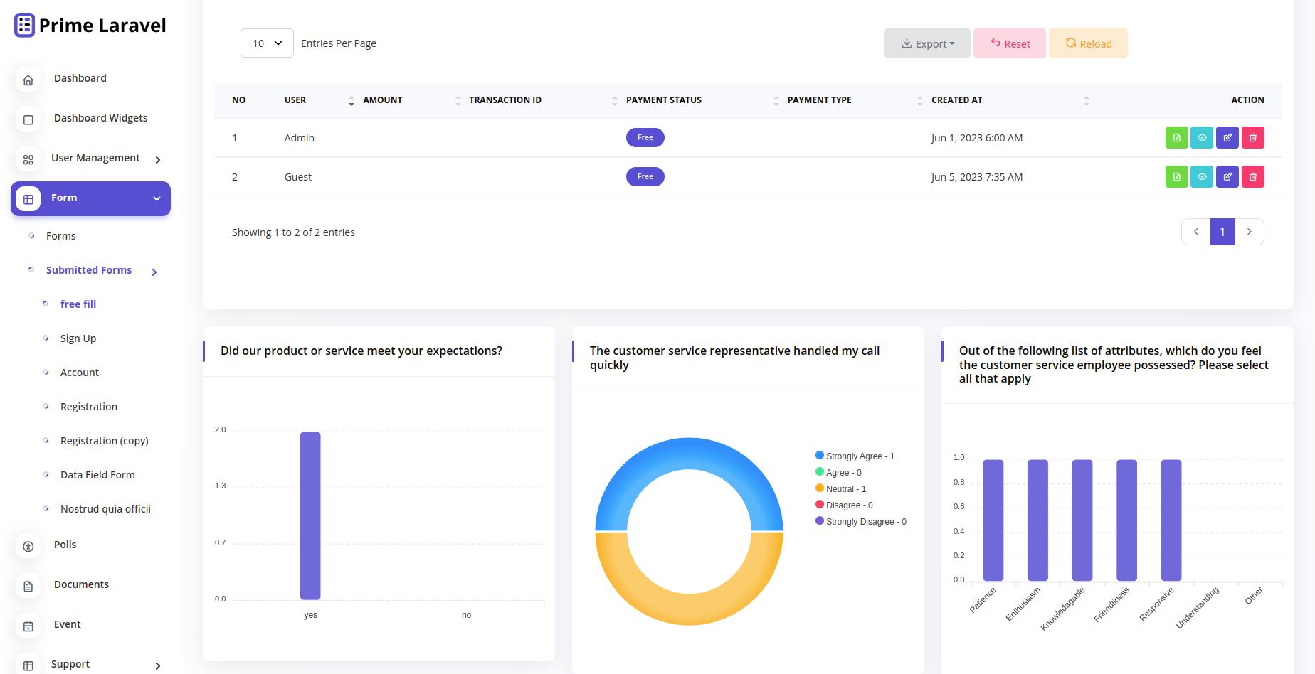 Prime Laravel Form Builder - Form builder, Users, Role, Permissions & Settings - 8